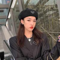 Berety damska fala kapelusz moda jesień i zima koreański retro malarz trójkąt etykieta woolen beret kobieta