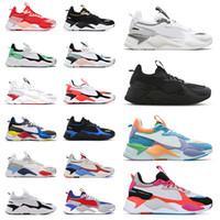 Sapatos Puma RS X 2021 Novos tênis de corrida masculinos reinvenção Cool Black White Creepers dad Chaussures masculinos femininos tênis esportivos tênis tamanho 36-45 off white