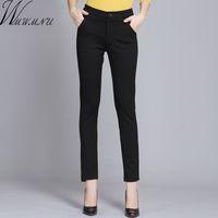 WMWMNU Kadın Pantolon İş Giyim Rahat Bahar Siyah Kalem Pantolon Artı Boyutu Kadın Ince Pantolon Elastik Pantalones Mujer LJ201130