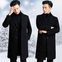 Las mezclas de lana de los hombres cultivan la moralidad de la capa de tela juvenil masculina de la temporada larga y se espesa el polvo de lana de la rodilla.