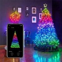 Árvore de Natal Decoração Luzes À Prova D 'Água Colorida Luzida Luzes Luzes Controladas App Controlled Light Cords com 250 luzes LED luz de Natal -L