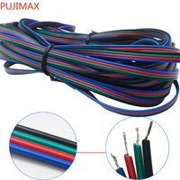 1m 2m 3m 4m 5m 10m 20m 50m 4 Pin 5 Pin canali LED cavo RGB per 5050 3528 LED RGBW striscia prolunga estendere il connettore del cavo del cavo