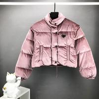 2020 겨울 재킷 Womens 디자이너 jakcet 레트로 힙합 섹시한 짧은 코트 내부 나일론 라이닝 패브릭 이동식 슬리브 EUR 크기 고급 코트
