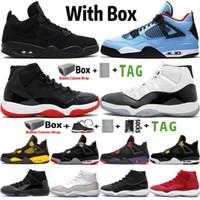 2021 Com Box Jumpman 4 4s Black Cat Neon Rapotors Homens Basquetebol Sapatos 11 11s Space Jam Condord 45 Tênis Treinadores Tamanho 36-47
