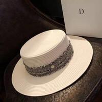 Wide Brim Hats For Women Women's Sun Hat Female Summer M Letter Straw Visor Caps Ladies Beach