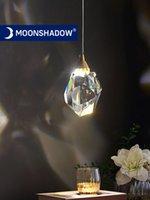 Moonshadow 펜던트 조명 침실 LED 전체 황동 크리스탈 노르딕 램프 조명기 서스펜션 장식 살롱 교수형 램프 220V