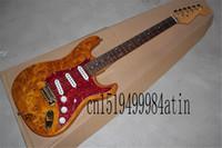 2021 Trasporto libero! Guitar di fabbrica Top Quality Stratocaster Personalizzato Corpo Golden Golden Hardware Chitarra elettrica Guitar