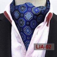 Nœud cravate hommes mode vintage polka pois formel cravat ascot scrunch self britannique style gentleman cravate de luxe mâle jacquard accessoires1