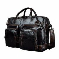 Couro genuíno homem Projeto Multifunction Purpose Maletas Maletin Negócios Briefcase 15 Laptop Bag Tote Bag Portfolio K1013 metal Breve u63U #