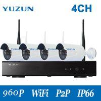 960P Wi-Fi CCTV Комплекты 4CH Wirelsss IP-камеры Комплект IP-камеры 960P 500M Cascade Mode HD на улице Домашняя безопасность Наборы камеры