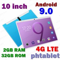 New Tablet Pc 10.1 inch Android 9.0 Tablets Octa Core Google Play 3g 4g LTE Phone Call GPS WiFi Bluetooth Tempered Glass