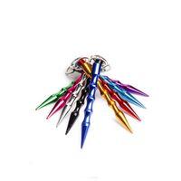 다채로운 도매 여성 솔리드 알루미늄 미니 자기 방어 스틱 키 체인 자기 방어 키 체인 스틱