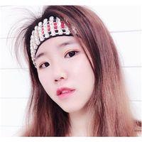 Festa de natal famosa padrão listrado faixas de cabelo completo strass elástico headband designer headband bandana hea jllaho mx_home
