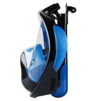 Mascarilla de buceo con ruba anti-niebla bajo el agua con máscara de buceo de montaje de cámara Set de snorkel Conjunto de máscara respiratoria Equipo de natación a prueba de agua seguro