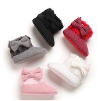 أول مشوا أحذية طفل فتاة الصوف الصوف أحذية سرير الثلج الشتاء الدافئ الجوارب الأولى مشوا الرضع الجديد الكروشيه متماسكة الطفل