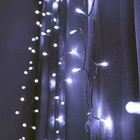 Neueste Design 1200-LED Warmweiß-Licht Romantische Weihnachtszeit-Hochzeit Outdoor Dekoration Vorhang String Licht US-Standard warmweiß ZA000935