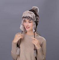 남자를위한 2020 새로운 겨울 모자 여성을위한 두꺼운 Balaclava 면화 모피 겨울 이어폰 따뜻한 모자 유지 W233