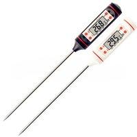 Digital Food Cooking Thermometer Probe Meat Huishoudelijke Hold Functie Keuken LCD Gauge Pen BBQ Grill Candy Steak Milk Water 4 Knoppen RRA3897