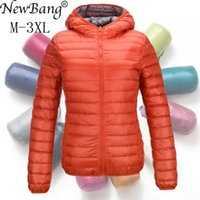 NewBang Down Coat Women Ultra Light Down Jacket Feather Jacket Women With Carry Bag Travel Double Side Reversible Jackets Plus LJ201120