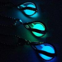 중공 나선형 물방울을 열 수 있습니다 Luminous Necklace Luminous Beads 인어 펜던트 WFN027 (체인 포함) 혼합 주문 20 개