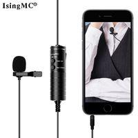 ISINGMC Kondenser Lavalier Mikrofon Mini Kayıt Kablosuz Mic Iphone / CamCord için 3.5mm Fişli Mic