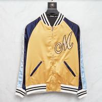 Contraste Color Nylon Bordado Barball Jacket Men 2021 Otoño Invierno Ligero Ligero Slim Fit Color Bloqueado Aplique Cortavientos