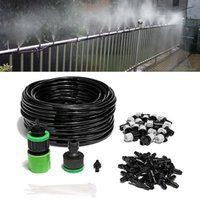 20M Water Misting Cooling System Rainbow Maker Mist Sprinkler Nozzle Outdoor Garden Plants Kit Spray Hose Greenhouse Watering 201209