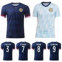 2020 İskoçya Futbol Formaları 20/21 Ev Fraser Armstrong Burke CCGregor Forrest Futbol Gömlek Uzakta Ulusal Takım Futbol Üniformaları