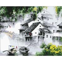 Dropshipping 60x75 cm Boyama By Numbers DIY Rüya Su Manzarası Duvar Sanatı Resim Akrilik Boyama Düğün Dekorasyon için1