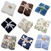Mantelas de franela engrosamiento de color sólido tapa manta siesta acondicionador de aire acondicionador de aire manta de dibujos animados Fleece mantas invierno cálido hogar textiles yelu1