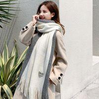Schals 2021 Stil für Herbst- und Winter-Kaschmir-Fransen-Warme Männer Frauen Dieselbe Farbe Schal Damen-Doubles Se Pin Jie Scarf1