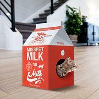 Scratchme Cat Rasguño Post Lounge Condominio Relajante Cat Scratcher Cartbo Toard Red