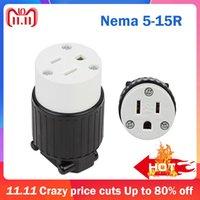 POWER SMART Plugue-nos Nema 5-15R UL 3 Pinos Macho Masculino Feminino CA Plug Industrial Conector Industrial DIY Tomada Rewirável 15A 125V