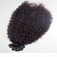 كليب مجعد البرازيلي في ملحقات الشعر كينكي مجعد الشعر البشري مقاطع الشعر في 10-24 بوصة ل لحمة الشعر ملحقات