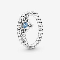 Neue Marke High Polish Band Ring 925 Sterling Silber Prinzessin Blue Tiara Ring Für Frauen Eheringe Ringe Modeschmuck Kostenloser Versand