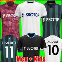 Maillot de foot 20 21 T ROBERTS HARRISON HERNANDEZ COSTA BAMFORD ALIOSKI CLARKE 2020 2021 maillots de football uniformes kit hommes + enfants enfant de la soccer jersey