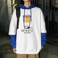 Men jacket clothes contrast colors hoodie jacket trend Shirt hoodie sweatshirt four colors to choose from