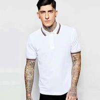 뜨거운 런던 남자 프레드 폴로 셔츠 100 % 코 튼 짧은 소매 페리 캐주얼 티셔츠 남성 폴로스 슬림 피트 새로운 여름 남자 영국 옷