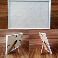 Plástico Photo Frame Sublimação Blanks Carta Jigsaws Cor Sólida Amor Coração Quarto Quarto Quarto Portátil Moda 5ZH L2