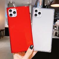 Cassa del telefono chiara quadrata per iPhone 12 Pro Max Portector TPU trasparente per Apple 11 x XS XR XS Max 7 8 8Plus
