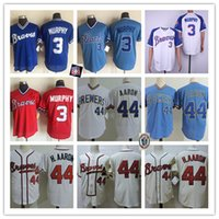 Mens Vintage 1980 Mesh #3 Dale Murphy Jersey Stitched white ...