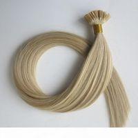 미리 본딩 된 헤어 익스텐션 평면 팁 Keratin 인간의 머리 50g 50strands 18 20 22 24inch M27613 브라질 인도 헤어 제품