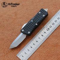 HIFINDER NEUE MINI Aluminium Griff D2 Blade Survival EDC Camping Jagd Outdoor Kitchen Tool Key Utility Messer