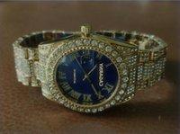 Горячие Продажи Роскошный Супер Хороший Президент День Дата Часы Большой Алмазный Безель Римский Набор Мужской Reloj Женщины Большие Горный Хрусталь Наручные часы
