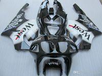 Verkleidungskörper-Kit für Kawasaki Ninja ZX-7R ZX7R 1996 1999 2000 2003 ZX 7R 96 99 00 03 White Black Fostings Bodywork + Geschenke ZD10