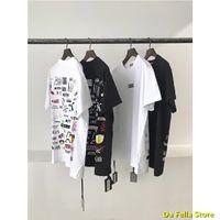 2020 Geri Tam KITH T-shirt Ön Klasik Kith Kutusu T-Shirt Sanatsal Yazı Baskı Tee Pazartesi Program Serisi Tops 1: 1 Etiket X1214