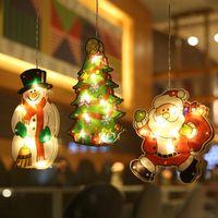 عيد الميلاد شفط كأس زخرفة نافذة عيد ميلاد سعيد العزف الجو المشهد الجدار عرض الصمام مصاصة مصباح الديكور حزب