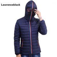 Оптовые-LawrenceBlack зимние куртки мужчины Parkas с очками мягкие пальто с капюшоном мужские теплые камеры Camperas детей ветрозащитный стеганый куртка 8391