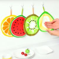 Serviettes en microfibre Jolie impression de fruits suspendus cuisine serviette à main de nettoyage à séchage rapide de chiffon de vaisselle en tissu d'essuie-serviette YHM331-ZWL