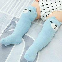 Uzun Bebek Çorap Hosiery Yaş 0-1y Üzerinde Diz Pamuk Meias Karikatür Hayvan Panda Meia Sokken Calcetines Sokon Kedi Çorap Ucuz Sıcak Y201009